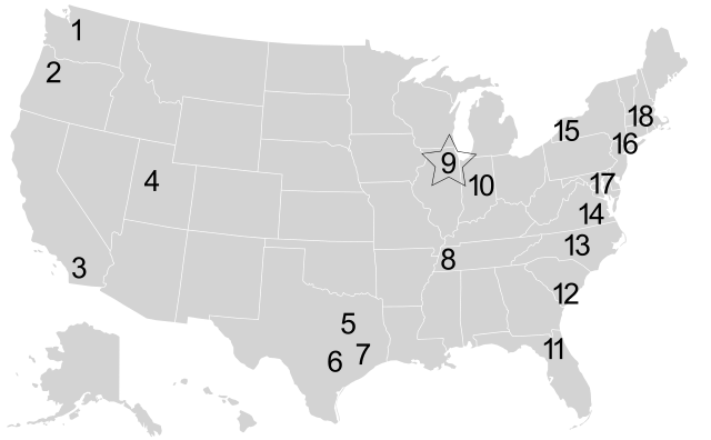 Map of Enrich Sites